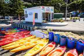 Days Bay Boatshed kayaks