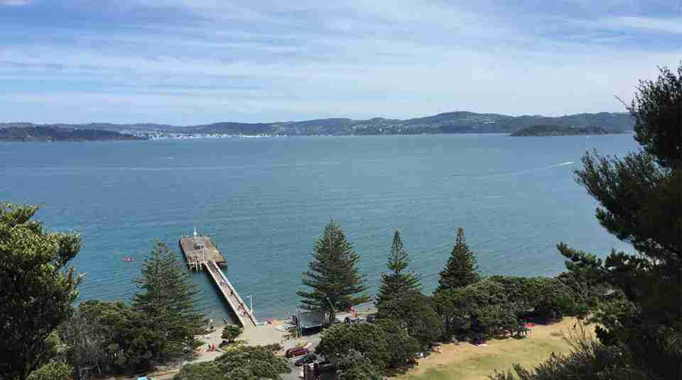 East Harbour Regional Park view over Days Bay Wharf