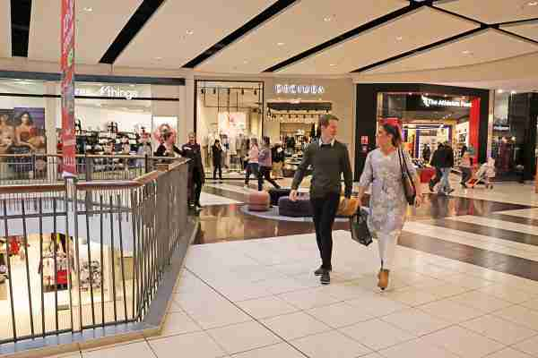 Queensgate shoppers walking past in shopping centre