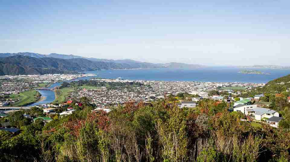 belmont regional park view from park overlooking lower hutt