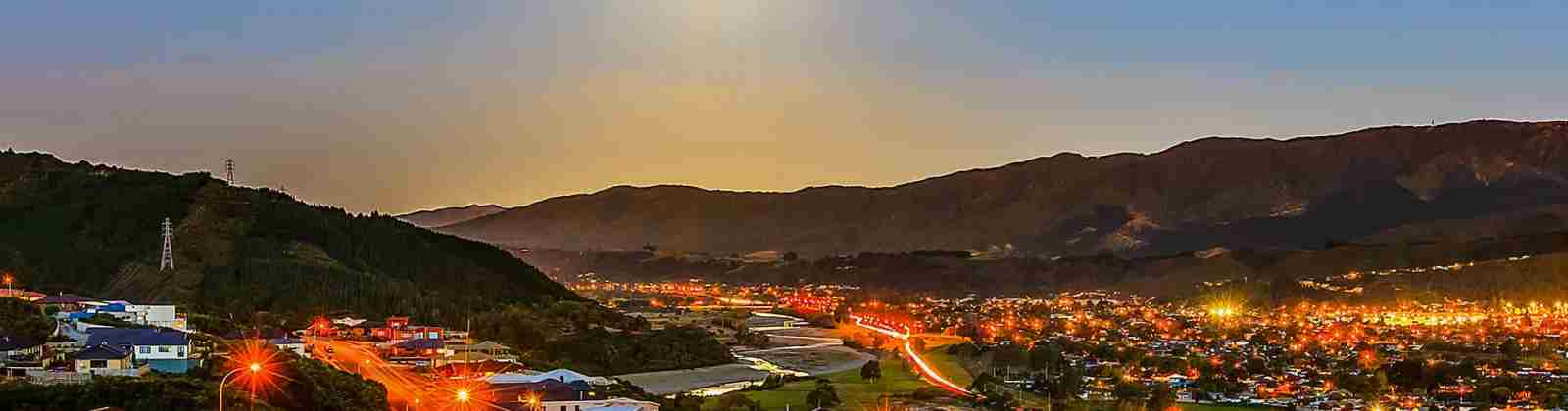 upper hutt city dusk